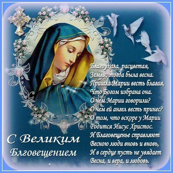 С Великим Благовещением, Благовещение Пресвятой Богородицы