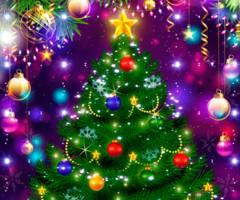 Картинка с новогодней елкой
