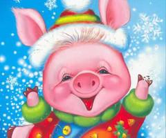 Картинка с Новым 2019 годом Свиньи