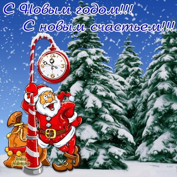 Прикольный Петух на ёлки, С Новым годом 2018